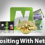 Neteller cards theme and money